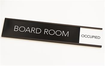 Board Room Sign Occupied Slider Signs