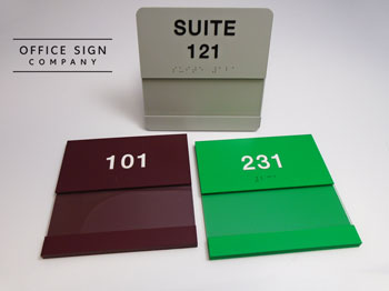 Insert Window Sign with Braille and Tactile