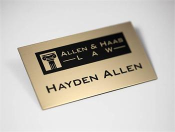 Executive Name Badges - Brass Plated