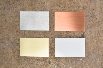 Silver Copper Gold and White Aluminum Colors