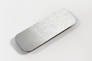 Blank Brushed Silver Metal Name Tag for Dry Erase