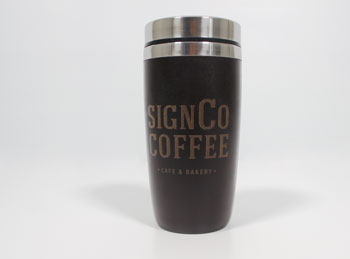 Recycled Coffee Mug with Lasered Logo