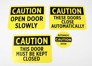 Caution Signs for Doors