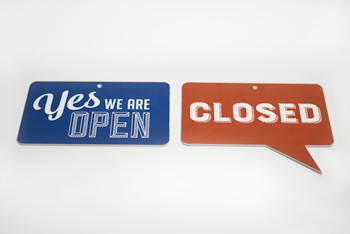open closed signs in full color open closed signs