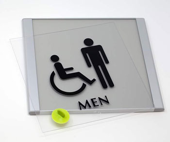 Braille Signs with Metal Frame
