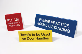 Safety Signs for Counters