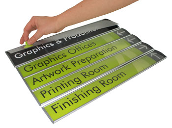 Curved Signs - Interchangeable Modular Directory
