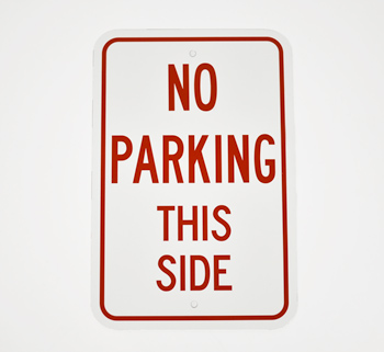 Custom Non Reflective Parking Signs