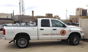 8a07b4baf1b Longspur Prairie Fund Vehicle Graphics from Office Sign Company