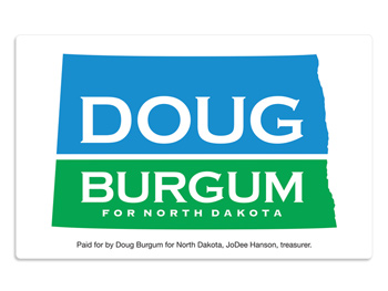 Doug Bergum Vehicle Magnets