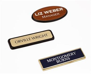 Custom Engraved Badges and Name Badge Holders