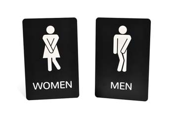 Engraved Funny Bathroom Signs