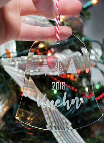 Clear Holiday Ornaments