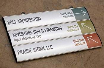 interchangeable ceiling signs with multiple panels hanging ceiling