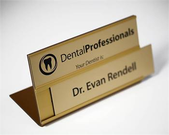Engraved Insert Office Sign For Professionals Interchangeable Name Plates