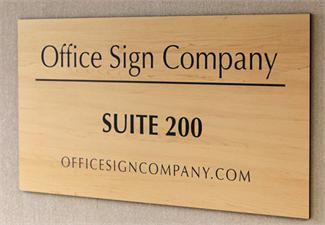 Suite Room Signs - Wood Tone Interior Signage adds Style and Class