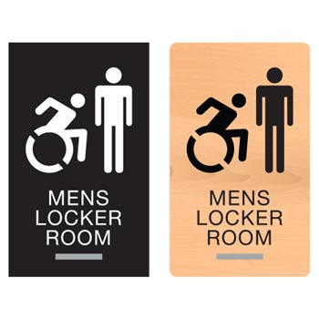 New York ADA Braille Mens Locker Room Signs