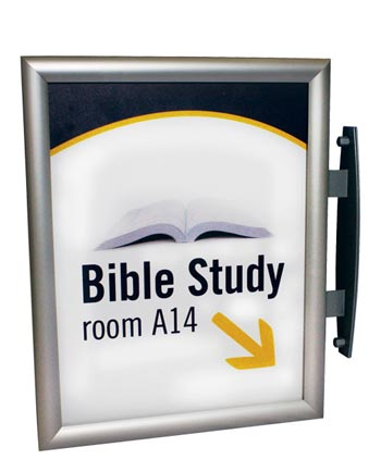 Projecting Interchangeable Snap Frames | Hallway Signs