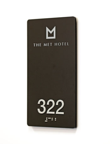 Hotel Room Number Signs