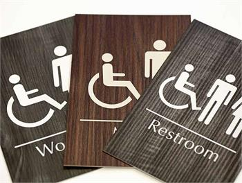Wood Restroom Signs & Bathroom Signs