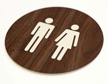 Decorative Restroom Signs