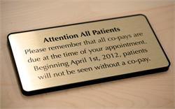 Copayment Wall Sign