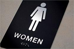 Restroom Sign with Braille and Tactile
