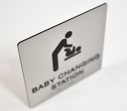 Tactile and Braille Baby Changing Signs