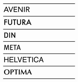 Font List for Braille Signs