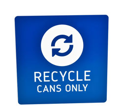 Recycle Cans Only Engraved Signs