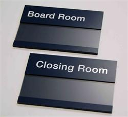 Changeable Insert Signs with Protective Lens