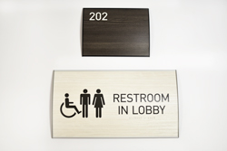 Interchangeable Braille Signs with Wood