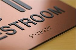 Copper Bathroom Signs with Braille