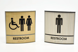 Bathroom ADA Signs Wood
