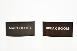 Curved Office Signs
