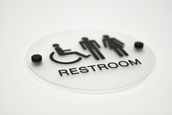 Braille Restroom Sign with Stand Offs