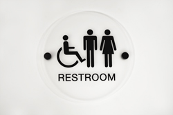 Round Bathroom Signs