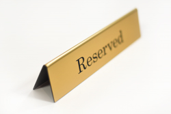 Double Sided Counter Sign - Reserved