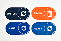 Recycle Signs for Bottles, Glass and Cans