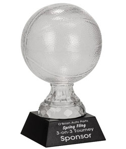 Basketball Glass Trophy