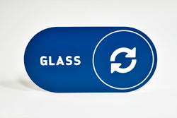 Recycle Glass Signs with Graphic