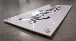 Glossy Acrylic Sign with Flush Mounts