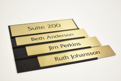 Interchangeable Suite Room Signs with Custom Metal Plates