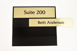Metal Suite Room Sign with Interchangeable Custom Plates