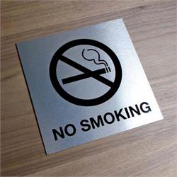 Metal No Smoking Sign