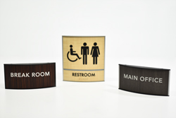 Wood Curved Office Signs - Variety of Tones