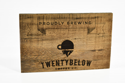 Reclaimed Wood with Logo Engraved Sign