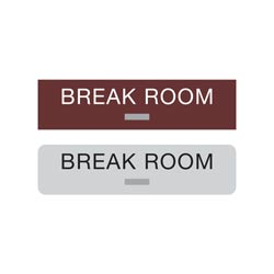 Americans with Disabilities Act (ADA) Braille Break Room Signs