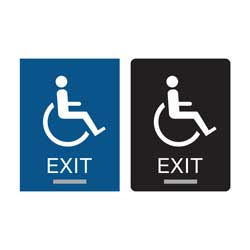 Accessible Exit Sign ADA Compliant