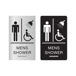 ADA Compliant Braille Shower Signs